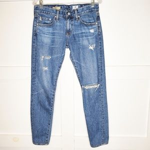 AG The Nikki Distressed Relaxed Skinny Jean's